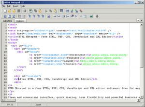 HTML Notepad 1.3 - náhled