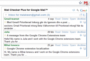Mail Checker Plus for Google Mail 1.2.3.3 - náhled