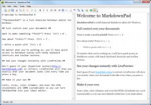 MarkdownPad 2.5.0.27920 - náhled