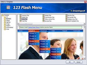 123 Flash Menu 4.6 - náhled