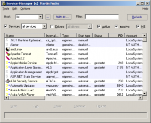 Service Manager 4.6 - náhled