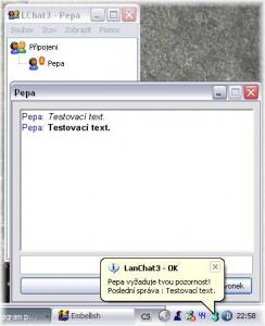 LanChat3 - pro komunikaci po LAN - náhled