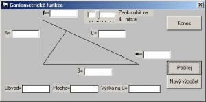 Goniometrické funkce - náhled
