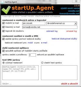 StartUp Agent 2.5.1 - náhled