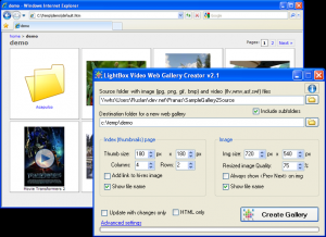 LightBox Video Web Gallery Creator 2.1.7 - náhled