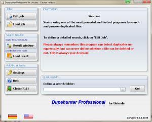 Dupehunter Professional 9.6.0.3940 - náhled