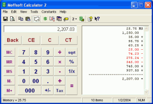 Moffsoft Calculator 2.1.1.30 - náhled