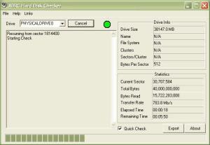 ADRC Hard Disk Checker 1.01 - náhled