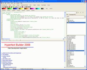 Hypertext Builder 2006 - náhled