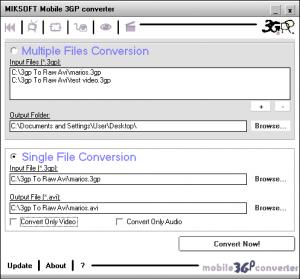 Mobile 3GP converter - náhled
