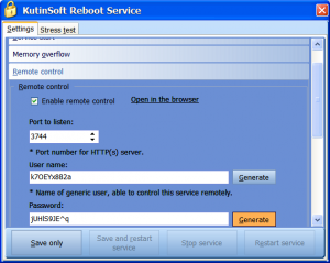 Reboot Service 1.2 - náhled