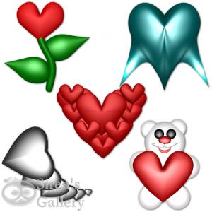 Srdcové ikony 1 - náhled