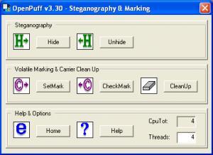 OpenPuff 3.30 - náhled