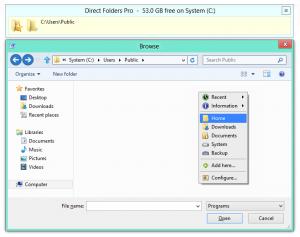 Direct Folders 3.73 - náhled