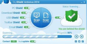 SkyShield Antivirus 2014 - náhled