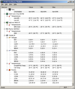 HWMonitor 1.37 - náhled