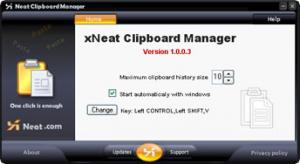 xNeat Clipboard Manager 1.0.0.7 - náhled