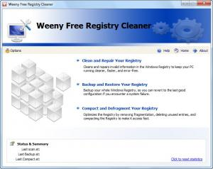 Weeny Free Registry Cleaner 1.0 - náhled