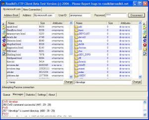 Roadkil's FTP Client 1.4 - náhled