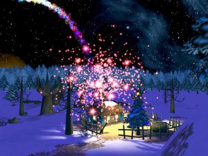 Christmas Night 3D Screensaver 1.5 - náhled