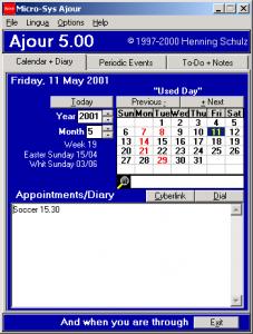 Ajour Calendar 5.63 - náhled