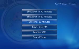 MC7 Sleep Timer 1.3 - náhled