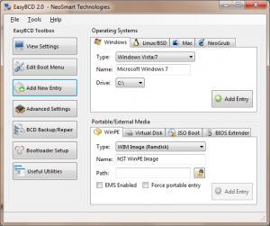 EasyBCD 2.3 - náhled