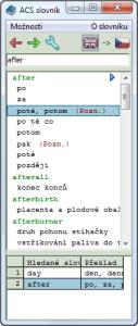 ACS Slovník 2.0.0 - náhled