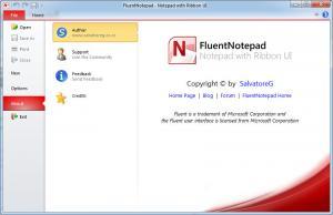 FluentNotepad 1.0.5. RC - náhled