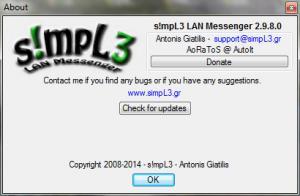 s!mpL3 LAN Messenger 2.9.8.8 - náhled