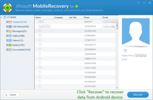 Jihosoft Android Phone Recovery 3.6.0.1 - náhled