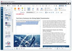 Úprava PDF - náhled