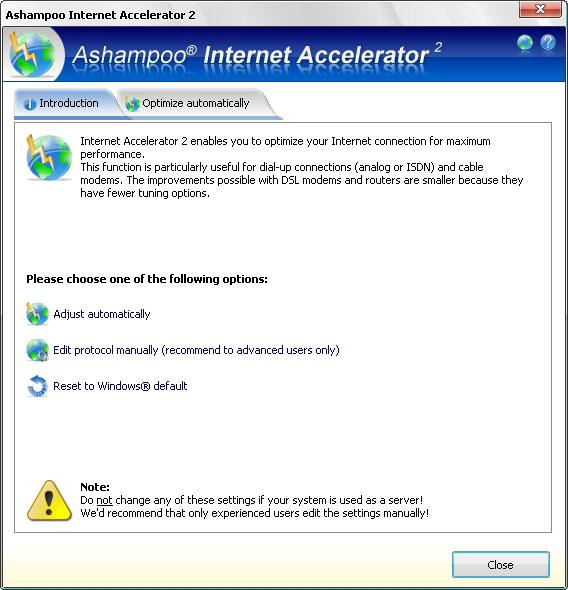 Ashampoo Internet Accelerator 3.30 - Plná licence - 1 licence