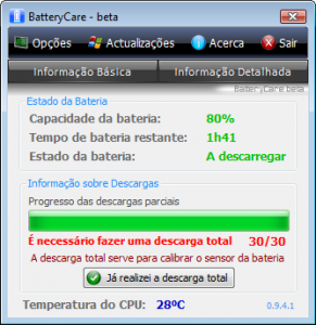 BatteryCare 0.9.30 - náhled