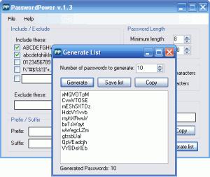 Password Power 1.3 - náhled