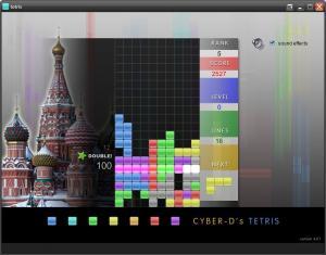 Cyber-D's Tetris 4.02 - náhled