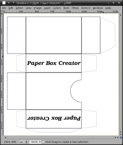 Paper Box creator 1.1 - náhled