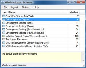 Windows Layout Manager 1.1.0.0 - náhled