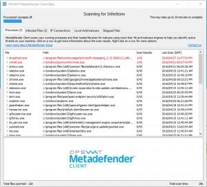 Metadefender Cloud Client - náhled