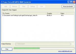 Freez Flv to AVI/MPEG/WMV Converter 1.6 - náhled