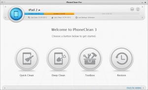 PhoneClean 4.0.5 - náhled