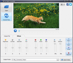 GIF to Flash Converter 4.2 - náhled