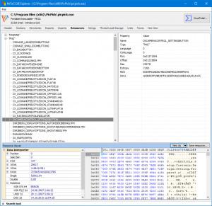 MiTeC EXE Explorer - náhled