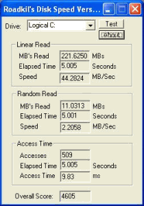 Roadkil's Disk Speed 2 - náhled