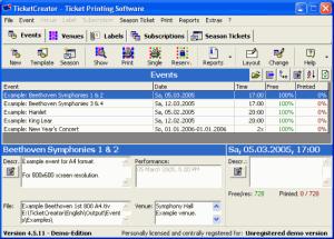 TicketCreator 5.1.17 - náhled