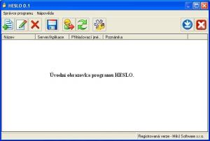 HESLO 0.6 - náhled