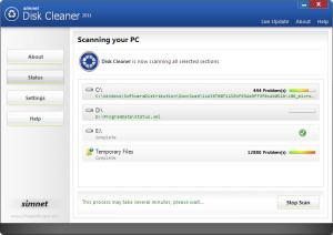Simnet Disk Cleaner 2011 3.1.1.4 - náhled
