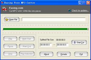 Eusing Free MP3 Cutter 2.6 - náhled