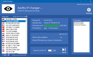 Asoftis IP Changer - náhled