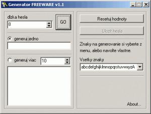 Generator 1.1 - náhled